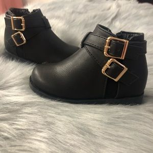 Black baby girl bootie